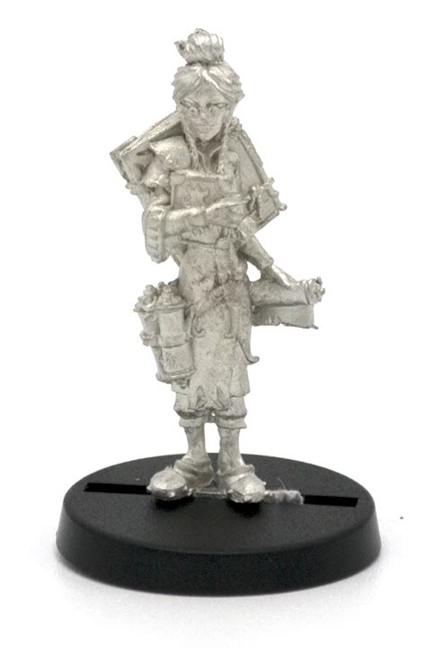 elf librarian miniature figure for 28mm table top wargames