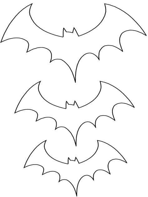 printable paper bats traceable bat shape for card decorations trace in
