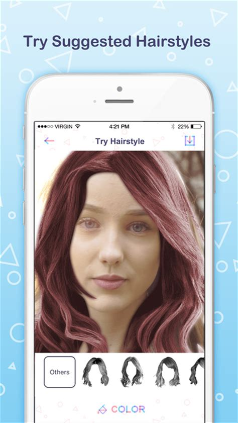 hairstyles for face shape app app shopper find my face shape try suggested hairstyles