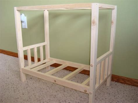 Handmade Canopy Bed - usa handmade solid wood doll canopy bed fits american