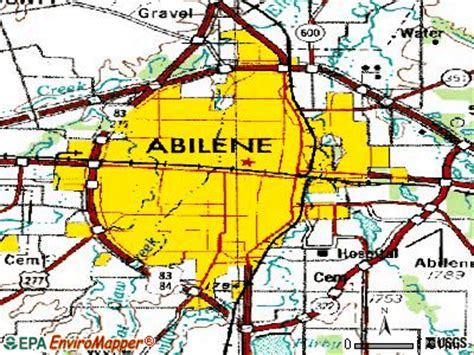 abilene map usa abilene map