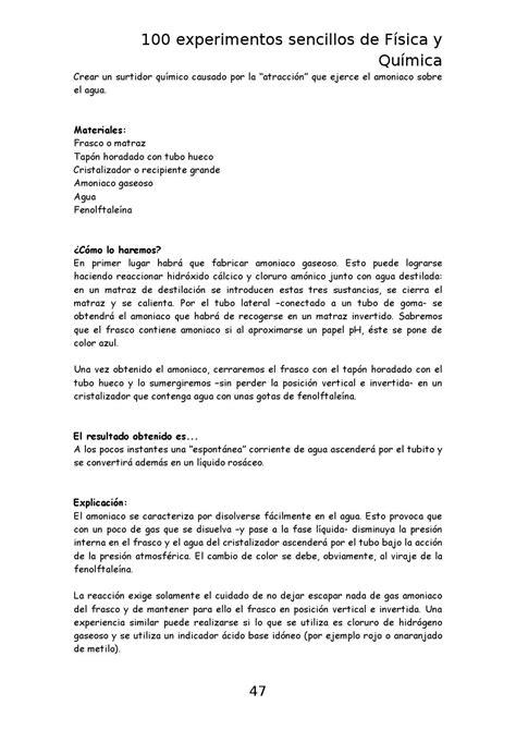 Experimentos sencillos de fisica y quimica by Marta
