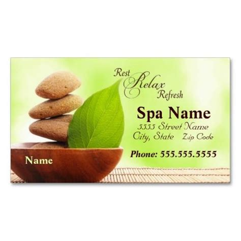Spa Business Card Template by 272 Best Images About Spa Business Cards On