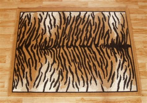 tiger floor rug tiger print area rug 5ft x 8ft other rugs carpets
