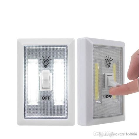 Magnetic Light Switch For Closet by 2018 Magnetic Mini Cob Led Cordless Light Switch Wall