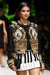 Wardrobe In Fashion Show by Saio On The Runway At Dolce Gabbana Fashion Show