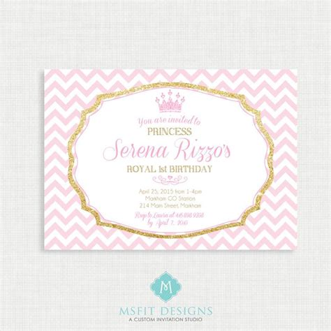 princess birthday invitation tiara birthday party