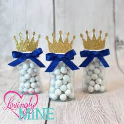 prince baby shower favors prince baby bottle favors in royal blue glitter gold