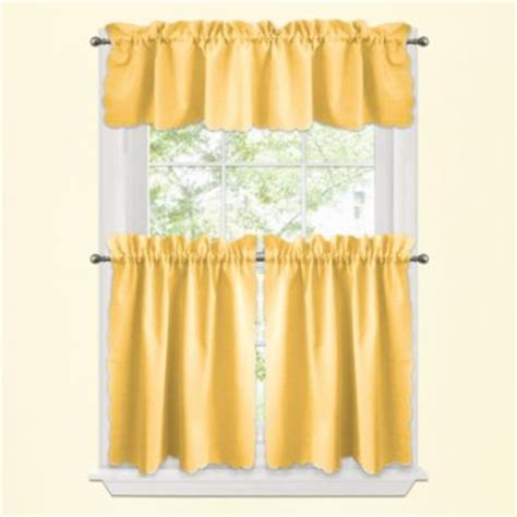 yellow and kitchen curtains buy yellow kitchen curtains from bed bath beyond