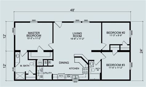 house plans with basement 24 x 44 24 x 36 floor plans nominal size 24 x 52 actual size
