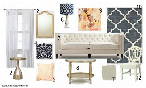 living room items list home with baxter design board glam living room