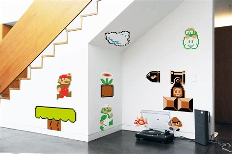 mario bros stickers wall blik mario bros re stick wall decals wall sticker