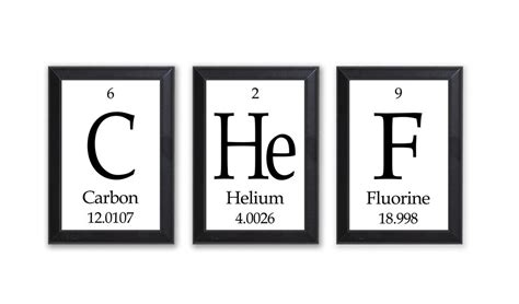 periodic table home decor chef periodic table framed 3 piece wall plaque set geeky