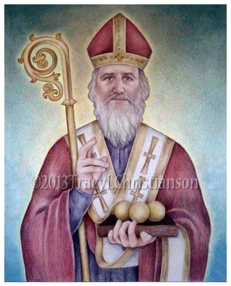 catholic st st nicholas catholic 8x10 quot print catholic patron