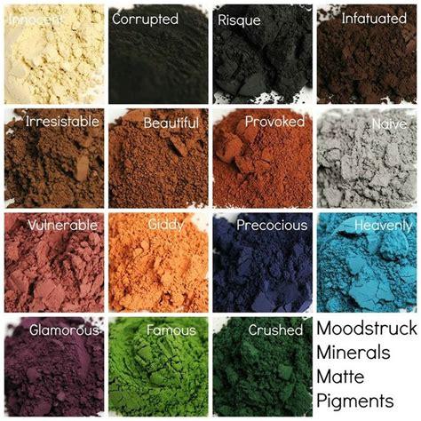 Simply Crushed Mineral Eye Colors by 17 Best Images About Moodstruck Mineral Pigment Powder On