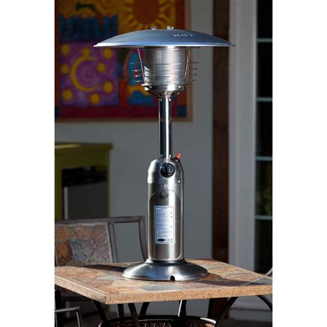 Stainless Steel Table Top Patio Heater Well Traveled Well Traveled Living Patio Heater