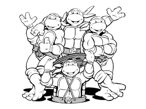 nick ninja turtles coloring pages ninja turtle outline clipart best