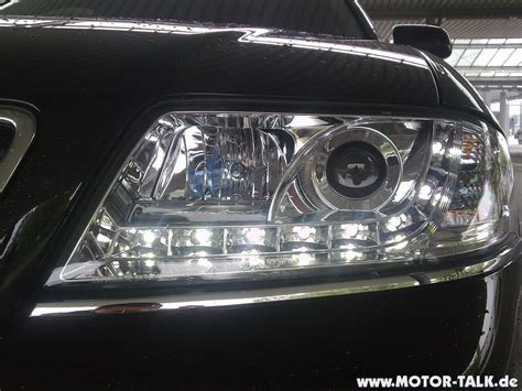 audi a6 headlights 01 04 audi a6 r8 style devil eye led projector headlights