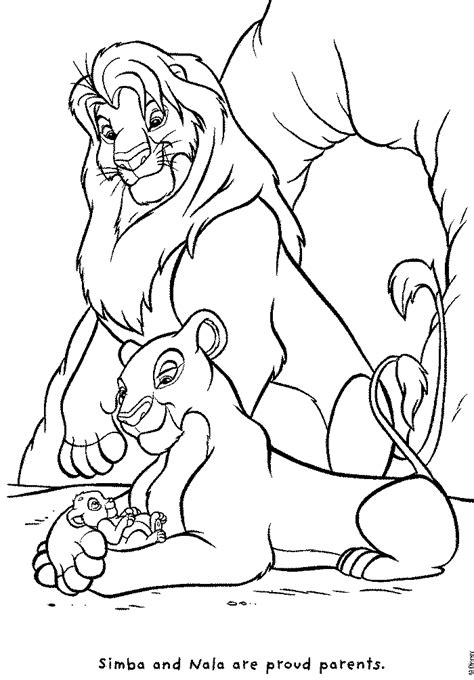 lion pride coloring pages coloring pages simba s pride fun site