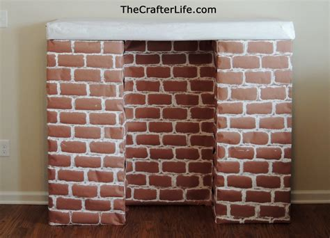 How To Make A Paper Brick - cardboard fireplace