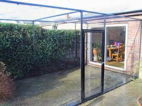 Cat enclosure with steel framed mesh roof by protectapet 174