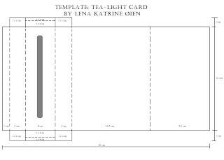 tea light box card template lena katrine s scrappeskreppe dt ett trykk issue 04 10