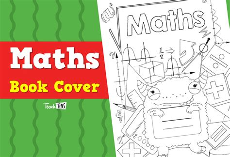maths book cover template book cover maths printable book covers for primary