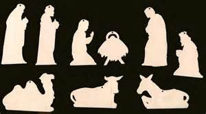 Piece set nativity scene christmas ornament with holes natural craft