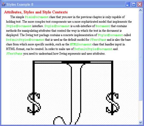 java swing sle code jtextpane styles exle 1 textpane 171 swing jfc 171 java