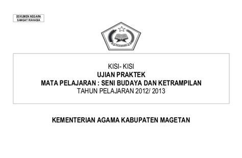 Sbk Seni Budaya Dan Keterilan Kls 3sd 8 kisi kisi ujian praktek sbk 2012 2013