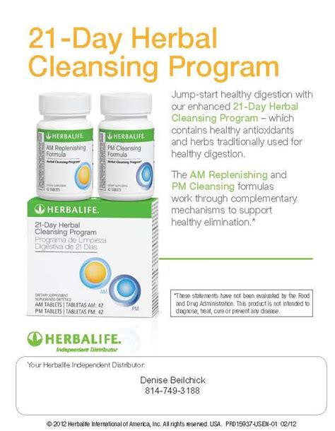 Tanny 21 Day Detox by 21 Day Herbal Cleansing Program Herbalife