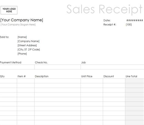 basic receipt template receipt template for excel studio design gallery