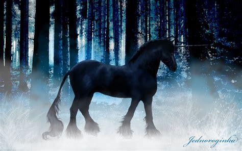 dark unicorn wallpaper black unicorn walldevil