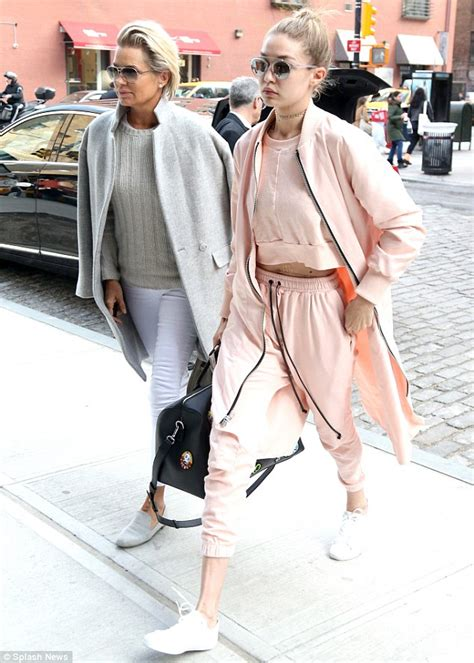 yolanda foster looks so good gigi hadid looks ready for spring while in new york with
