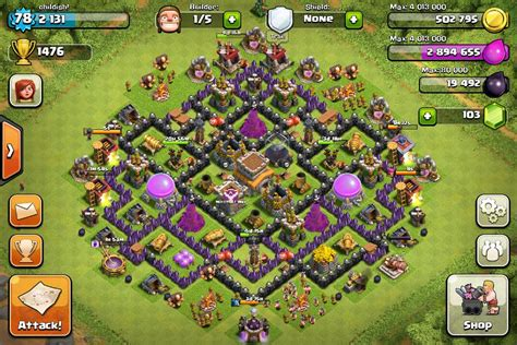 clash of clans best th 8 trophyclan war base th8 4 poze cu base th8 clash of clans cu adrian