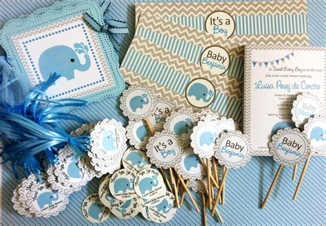 Bday Decorations At Home blue elephant water bottle labels for baby boy adore by nat