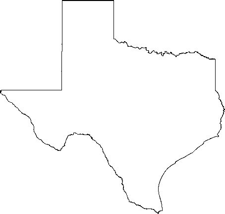texas state outline map state of texas outline cliparts co