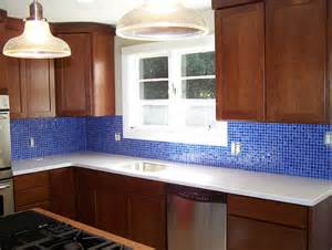 blue glass kitchen backsplash cobalt blue glass tile backsplash home design ideas