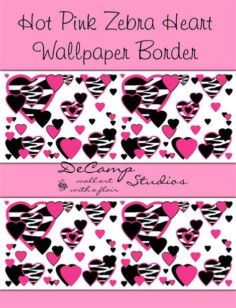 bedroom wallpaper for teenage girls hot pink zebra print hearts wallpaper border wall decals