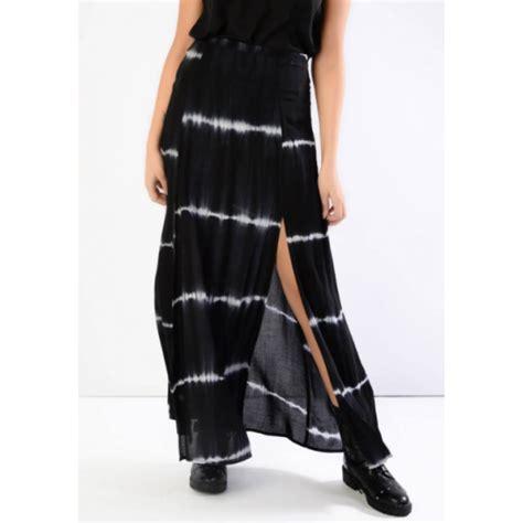buy glamorous maxi skirt in black tie dye