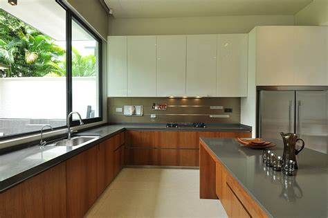 terrace house kitchen design ideas stylish bungalow inspired residence in singapore sunset
