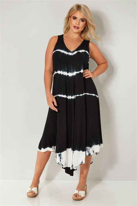 Sale Id 321 Faces Print Dress zwart witte jersey tuniekjurk met print grote maten 44 64