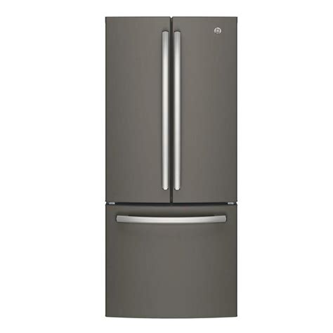 30 in door refrigerator ge 30 in w 20 8 cu ft door refrigerator in slate