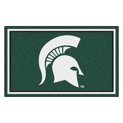 Area Rugs Michigan Fanmats Ncaa Michigan State Green 6 Ft X 4 Ft Indoor Area Rug 8793 The Home Depot