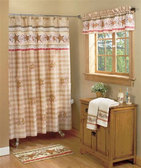 country curtains with stars country hearts and stars bath collection country livin