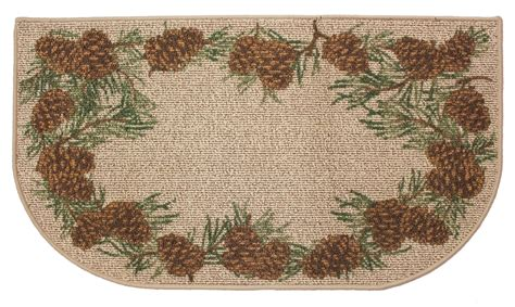 Pine Cone Area Rugs Pine Cone Hearth Rug Fireplace Wood Stove Rug For Cabin Decor