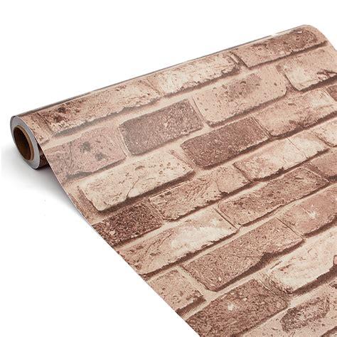 Wallpaper Sticker 3d 10m 3d wallpaper brick wood mural waterproof self adhesive