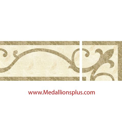 decorative tile borders waterjet tile borders design 53 medallionsplus