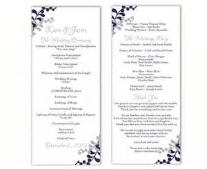 Program Templates Free by Wedding Program Template Diy Editable Word File Instant
