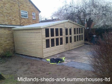 20x10 ultimate tanalised summerhouses midland sheds